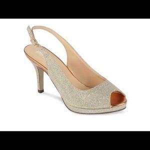 Glitter⭐️✨platform peep toe slingback shoes
